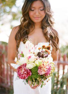 Exotic bride & Exotic bouquet!   Photography by erinheartscourt.com, Flowers by flowersunderground.com/