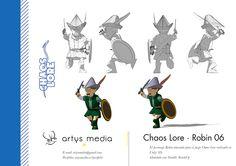 https://flic.kr/p/qFejfR | Chaos Lore · Robin 06 | El personaje Robin atacando para el juego Chaos Lore realizado en Unity 3D.  Modelado con Google SketchUp