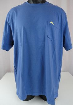 NWT Tommy Bahama XL New Bali Sky SS Pima T Shirt Bright Cobalt Crewneck Pocket  #TommyBahama #CrewneckPocketTShirt