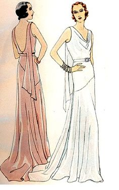 1930's Dubarry Gown....wish i had the body and height to wear something like this..