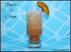 Peaches & Cream (2 oz peach schnapps 2 oz whipped vodka 6 oz orange juice splash of grenadine)