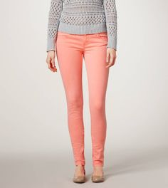 Coral Jeggings...Need!