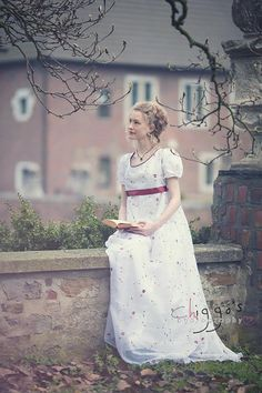 Empire dress Rose, regency dress, Jane Austen dress, Sense and sensibility wedding dress, romantic wedding dress, maternity wedding dress