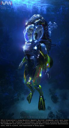 ArtStation - LODAS (Long Duration Aquatic Survival Suit), ivan sokol