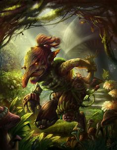 Araidai- South America myth: forest goblins. They were covered in red hair. They communicated with each other with horse neighs and they had backwards feet.