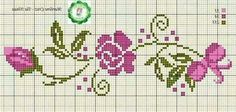Ideas embroidery patterns cross stitch flowers bloemen for 2019 Cross Stitch Rose, Cross Stitch Borders, Cross Stitch Flowers, Cross Stitch Charts, Cross Stitch Designs, Cross Stitching, Cross Stitch Embroidery, Embroidery Patterns, Hand Embroidery
