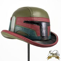 Leather Boba Fett Themed Bowler Hat- We love this here at www.jedirobeamerica.com