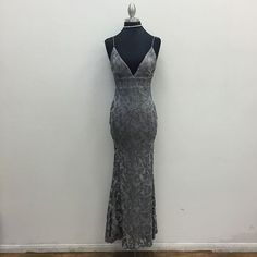 null Grey Maxi Clothing - Dresses Los Angeles California