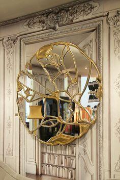 Best of Milan Design week Boca do Lobo Mirror Inspiration, Bathroom Design Inspiration, Mirror Ideas, Furniture Inspiration, Kintsugi, Bathroom Design Luxury, Luxury Interior Design, Luxury Furniture, Furniture Design