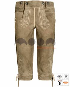 Loisachtal Trachten-Kniebundhose Braun Art. #MnS-60-0092936 Length: Knee bound (Kniebund) Material: Goat skin Buttons: Deer horn   DESCRIPTION Loisachtal Trachten-Kniebundhose made of high quality goatskin by Moon Sports in the color Inkabraun. Classically cut, with impressive embroidery on bib, leg, knife pocket and buttocks. The Kniebundhose has two front pockets, useful belt loops and can also be regulated above the buttocks and trouser leg with leather straps in the....(cont'd) Lederhosen, Deer, Trousers, Product Description, Moon, Sweatpants, Buttons, Pockets, Embroidery