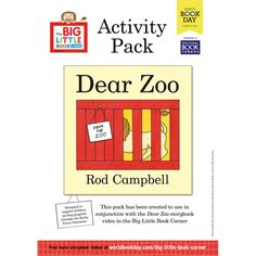 Printables to act out the story, matching exercises, a monkey mask, animal patters to practice tracing skills, and a template to ask for something from the zoo! Dear Zoo Activities, Craft Activities For Kids, Time Activities, Dear Zoo Eyfs, Dear Zoo Party, Book Tokens, Letter Of The Week, Fun Worksheets, Book Corners