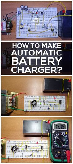 Have you ever tried to design a battery charger which charges the battery automatically when battery voltage is below the specified voltage? This article explains you how to design an automatic battery charger.