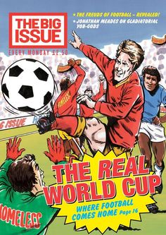 This week's UK edition of @The Big Issue features Homeless World Cup on the front cover and inside. pic.twitter.com/SsEphA8Ov9