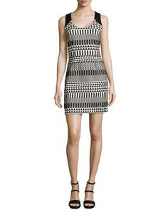 e337d8b8aba Sleeveless Graphic Jacquard Dress by Nicole Miller at Neiman Marcus.