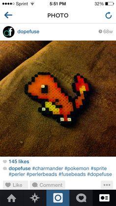 Charmander Pokemon Charmander, Kandi, Perler Beads, Edm, Projects, Pattern, Log Projects, Blue Prints, Patterns