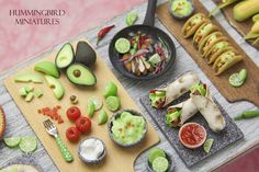 Scale miniature Mexican food by Hummingbird Miniatures