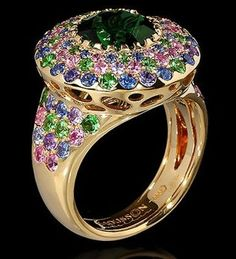 Mousson Atelier Riviera Gold Tourmaline Ring R0203-0/1