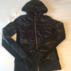 Lululemon special edition scuba hoodie Black special edition hoodie. Removable inner collar to keep warm. lululemon athletica Jackets & Coats
