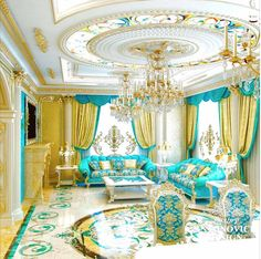 Beautiful Modern Ceiling Design You Are Looking For - Cornelius Adeniyi Luxury Bedroom Design, Luxury Home Decor, Luxury Interior Design, Interior Ideas, Mansion Interior, Living Room Interior, Blue And White Living Room, Luxury Homes Dream Houses, Luxurious Bedrooms