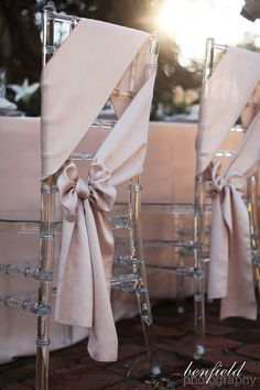 20 Elegant Wedding Chair Decoration Ideas with Fabric and Ribbons Page 2 of 2 is part of Wedding decor elegant - Photo Credits Happy Wedd Style Me Pretty Hitched Mod Wedding Southern Weddings Rock My Wedding Benfield Photography Wedding Chair Decorations, Wedding Chairs, Wedding Table, Wedding Chair Bows, Pink Decorations, Mod Wedding, Elegant Wedding, Wedding Day, Wedding Fabric