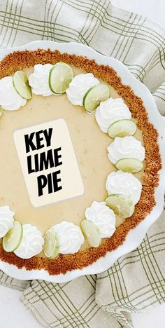 Key Lime Pie recipe from RecipeGirl.com #key #lime #pie #recipe #RecipeGirl