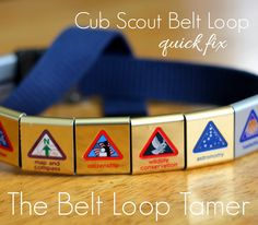 the FREE cure for slipping Cub Scout belt loops
