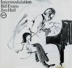 1966 Bill Evans  Jim Hall - Intermodulation [Verve V-8655] cover illustration by Paula Donohue #albumcover