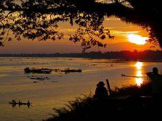 Sunset Tonle Sap Lake