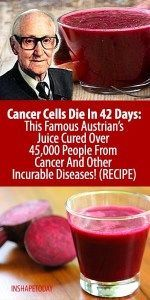 Cancer Cells Die In 42 Days: This Famous Austrian's Juice Cured Over People From Cancer And Other Incurable Diseases! Natural Cancer Cures, Natural Headache Remedies, Natural Cures, Natural Health, Juicing For Health, Health Diet, Health And Wellness, Health Care, Health Fitness