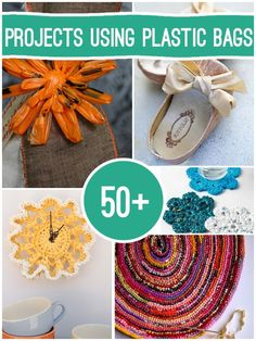 50+ projects to make using #recycled Plastic bags #upcycle #repurpose #DIY