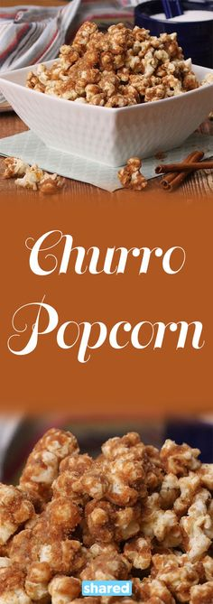 Churros are awesome, but they're pretty difficult to make. You need a deep fryer, a special pastry tip, the batter needs to be the perfect consistency...yeah no one has time for that! That's where this recipe comes in handy!  Churro Popcorn satisfies all your churro cravings PLUS it's super easy to whip up. It will literally take you 10 minutes to make this sweet, chewy, crunchy snack and you likely have all the ingredients to make it in your kitchen already.