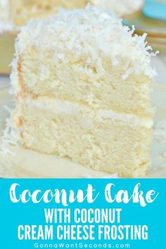 This Coconut Cake with Coconut Cream Cheese Frosting is loaded with amazing coconut flavor in every bite! Homemade all from scratch with a secret ingredient cake decorating recipes kuchen kindergeburtstag cakes ideas Coconut Cake From Scratch, Coconut Cake Easy, Coconut Frosting, Coconut Recipes, Coconut Cakes, Best Coconut Cake Recipe Ever, Lemon Cakes, Coconut Creme Cake Recipe, Paula Deen Coconut Cake