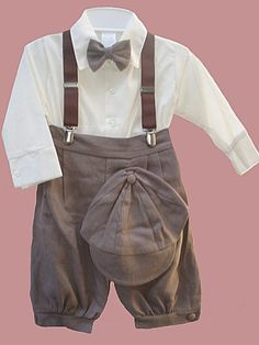 Knickerbocker 5 - Piece Infant Set - Mocha
