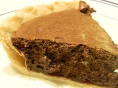 Home Joys: For Fear of Chocolate Pie