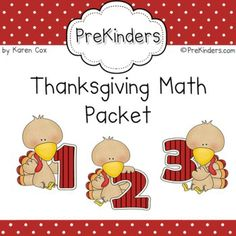 Thanksgiving Math Activity Set