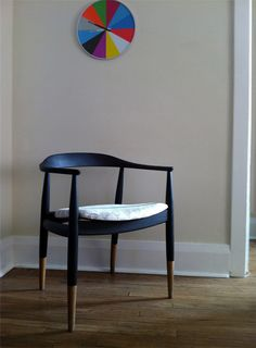 my favorite shape chair, here dipped in color