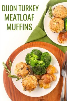 Turkey Dijon Mini Meatloaf Muffins - Easy, Healthy Dinner Re Easy Healthy Dinners, Healthy Dinner Recipes, Yummy Recipes, Yummy Food, Turkey Meatloaf Muffins, Chicken Meatloaf, Meatloaf Ingredients, Ethnic Recipes, Muffin Tins