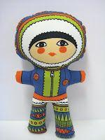Eskimo called Nanuq that I designed for Clothkits