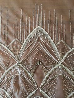 Grand Sewing Embroidery Designs At Home Ideas. Beauteous Finished Sewing Embroidery Designs At Home Ideas. Tambour Beading, Tambour Embroidery, Couture Embroidery, Embroidery Stitches, Bead Embroidery Patterns, Embroidery Suits Design, Flower Embroidery Designs, Crazy Quilting, Couture Beading