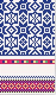 Tricksy Knitter Charts: Kaja's Kihnu Mitten XIX Century by mayb Motif Fair Isle, Fair Isle Chart, Fair Isle Pattern, Knitting Charts, Knitting Stitches, Hand Knitting, Knitting Patterns, Tapestry Crochet Patterns, Weaving Patterns