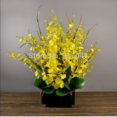 Yellow Flower Set   Little Dancing lady Orchids Decorative Flower Silk Orchids Artificial Flowers Wedding Party Free Shipping-in Decorative Flowers & Wreaths from Home & Garden on Aliexpress.com   Alibaba Group