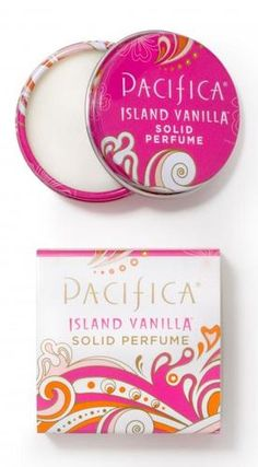 PACIFICA ISLAND VANILLA SOLID PERFUME Balm Honey Jasmine Notes - 100% VEGAN - I've been layering this with Tahitian Gardenia to create my signature scent. (They're lovely on their own, too.)