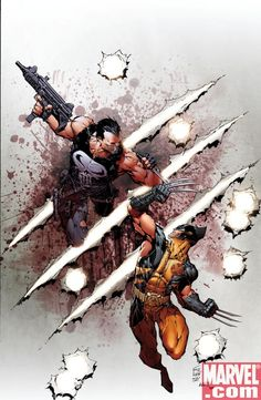 Kenneth Rocafort is amazing - Wolverine vs Punisher Marvel Cover -   Google Image Result for http://tcgamesandmore.net/photos/astonishing_tales_cover.jpg