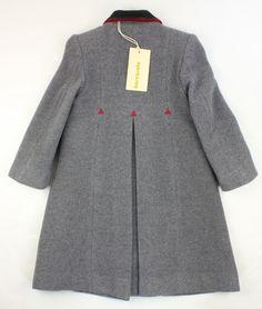 abrigos niña   abrigo de lana barcarola para niña gris claro