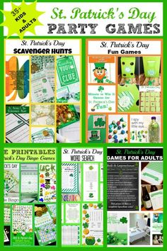 St. Patrick's Day Party Games - Kids and Adults