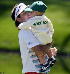 The littlest Watson bore the family name on his customized onesie. Bubba Watson.