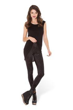 Wicked Web Black Leggings - LIMITED › Black Milk Clothing