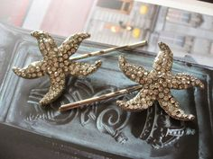 Starfish hair clips combs wedding bridesmaids by weddingvalle, $24.00
