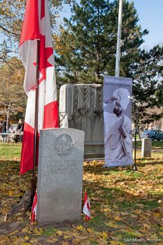 Grave of Canadian WWI hero Pvt. Buckam Singh. Site of the Annual Sikh Remembrance Day Ceremony  sponsored by SikhMuseum.com. It is the only military grave in Canada of a Sikh Canadian soldier from the World Wars.