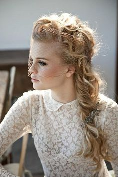 romantic twist pony with veil. love. where can i wear this? ..or where can i not wear this??!